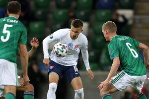 Ľubomír Šatka v zápase proti Severnému Írsku.
