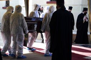 Pohreb biskupa Joannisa.