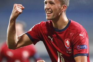 Tomáš Souček sa raduje po góle na 1:0.