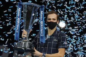 Daniil Medvedev, víťaz Turnaja majstrov v Londýne.