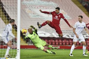 Momentka zo zápasu FC Liverpool - Leicester City.