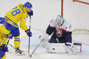 Jaroslav Janus v zápase proti Švédsku na MS 2017. Sever Európy by si rád vyskúšal aj na klubovej úrovni.