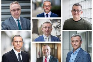 Ján Šanta, Rastislav Remeta, Tomáš Honz, Jozef Čentéš (v strede), Maroš Žilinka, Juraj Kliment, Ján Hrivnák.