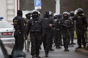 Bieloruská polícia.