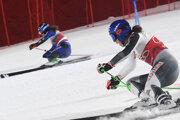 Petra Vlhová vs. Adriana Jelinková - paralelný obrovský slalom.
