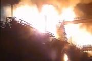 Plamene na Koksovni.