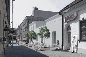 Takto má po obnove vyzerať kino Palace a Radlinského ulica.