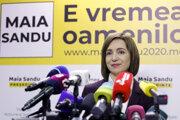 Novozvolená moldavská prezidentka Maia Sanduová.