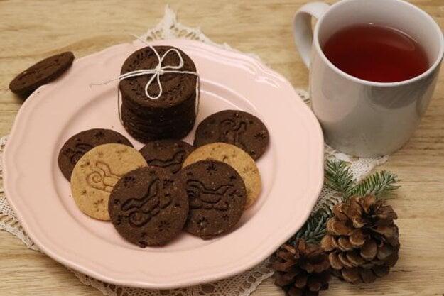 Pečiatkové sušienky kakaové