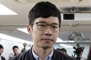 Jeden z najznámejších mladých hongkonských prodemokratických aktivistov Luo Kuan-cchung, známy aj pod menom Nathan Law.