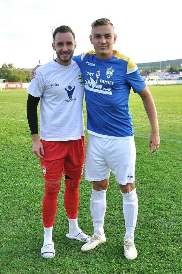 Michal Kovanič (vpravo) s Tomášom Bajzíkom.