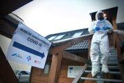 Prevádzka mobilného odberného miesta pre antigénové testovanie na COVID-19 v priestoroch Turisticko-informačného centra (TIC) Horehronie v obci Bystrá.