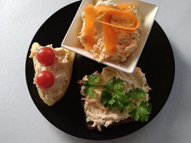 Tvarohová nátierka s vajíčkami a mrkvou