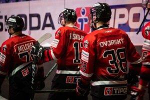Dalibor Dvorský pri premiére v slovenskej extralige drese HC '05 Banská Bystrica.