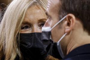 Brigitte Macronová a jej manžel Emmanuel Macron.