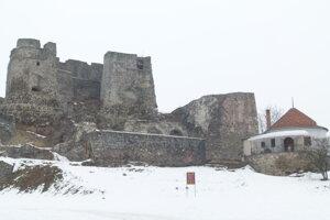 Levický hrad v minulosti.