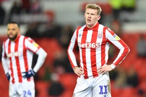 James McClean, krídelník Stoke City.