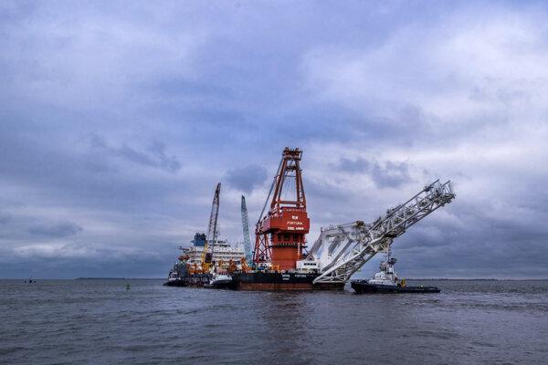 Loď Fortuna, ktorá sa podieľa na výstavbe plynovodu Nord Stream 2.