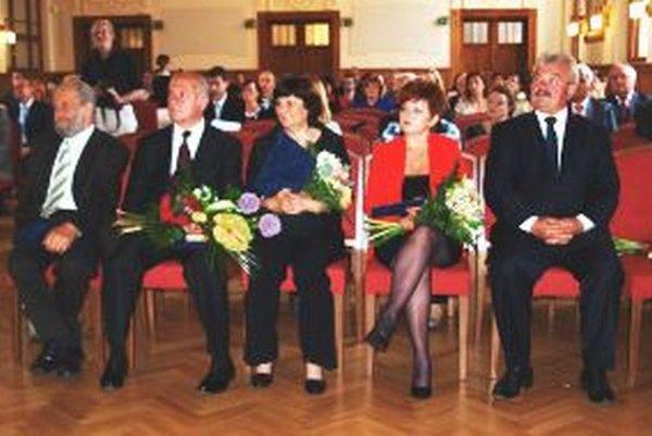 Piati ocenení predstavitelia kultúrnych inštitúcií v našom kraji.