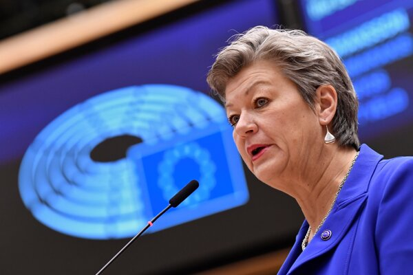 Eurokomisárka pre vnútorné veci Ylva Johanssonová.