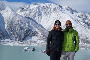 Ľadovcové jazero Tasman pod Mt. Cookom.