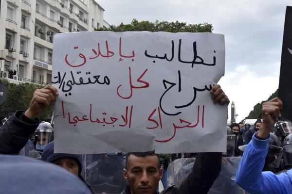 Demonštrácie v Tunisku.