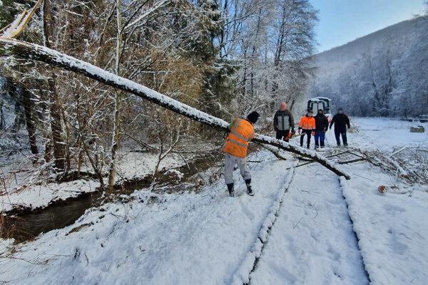 Stromy popadali na koľaje aj budovy.
