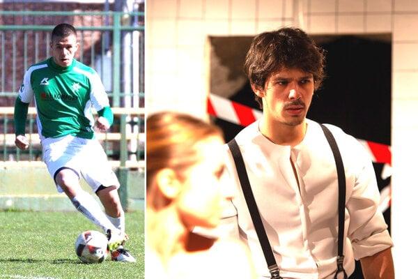 Ladislav Bédi ako futbalista (za dorast Nových Zámkov) a ako študent herectva.