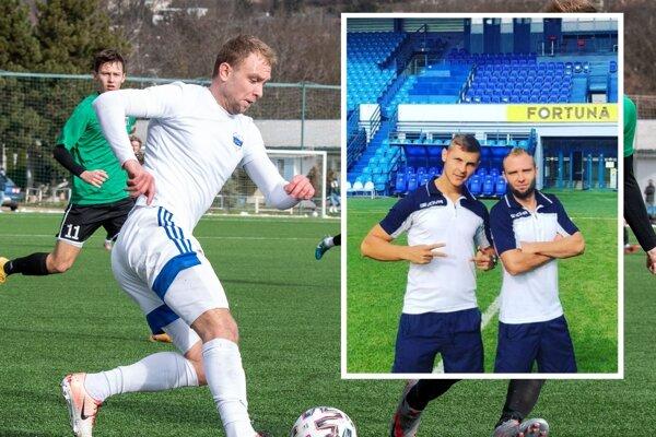 Keď sa Ádám Mészáros (vpravo) v auguste 2020 fotil na štadióne FC Nitra so spoluhráčom Rudolfom Gálom, ani vo sne mu nenapadlo, že v januári 2021 to bude jeho novým futbalovým domovom.
