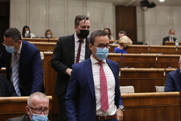 Poslanec Erik Tomáš v parlamente.