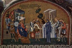 Takto si idealisticky predstavoval biblické sčítanie autor mozaiky v istanbulskom Chráme svätého Spasiteľa.