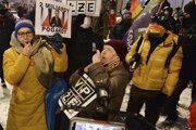 Protest poľských vydavateľstiev vo Varšave.