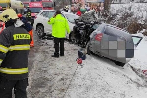 Nehoda v Kraľovanoch.