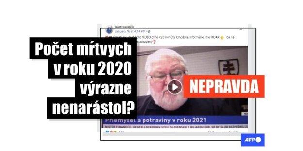 Priemyselník Vladimír Soták uvádzal nesprávne dáta o mŕtvych na COVID-19.