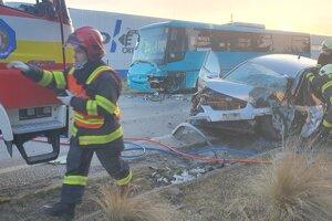 Vážna dopravná nehoda pri Piešťanoch