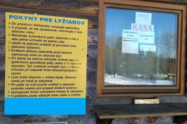 Tu sa kopali lístky na zjazdovku v obci Čierne.