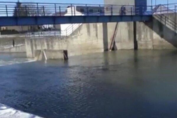 Rieka Nitra v Bošanoch.