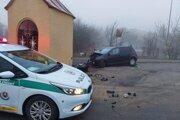 Nehoda v Zemplínskej Teplici.
