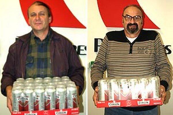 Vľavo víťaz 13. kola Milan Filo z Obýc, vpravo víťaz 14. kola Viliam Matejov zo Zlatých Moraviec.