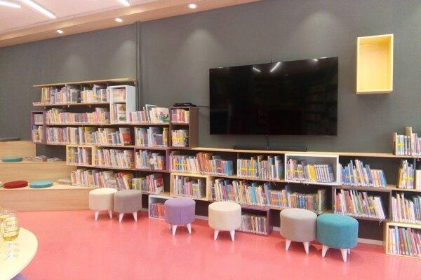 Vynovené priestory krompašskej knižnice.
