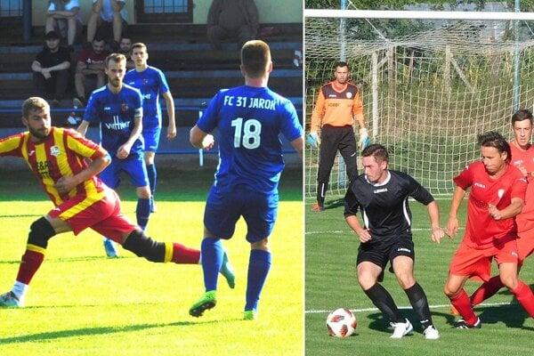 Momentky zo zápasov Jarok - D. Lefantovce a Cabaj-Čápor - H. Lefantovce.