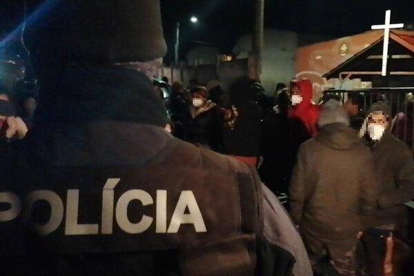 Evakuácia v Lipanoch.