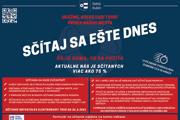 Kampaň na sčítanie obyvateľstva v Dolnom Kubíne.