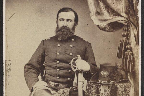 Gabriel Korponay v uniforme americkej federálnej armády Library of Congress.