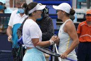 Bianca Andreescuová a Ashleigh Bartyová.