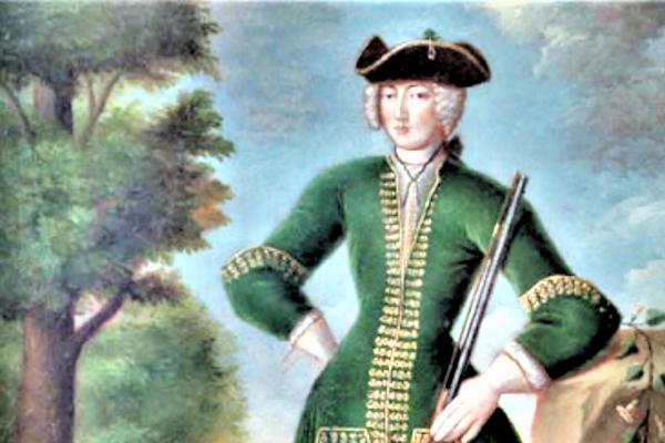 Poľovnícky portrét grófky Kataríny Zichy.