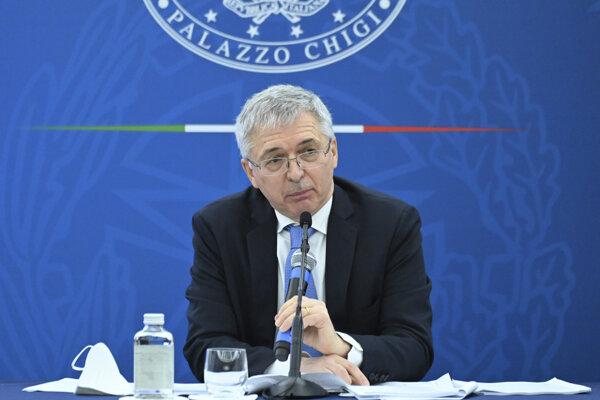 Taliansky minister financií Daniele Franco.