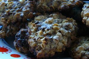 Ovsené cookies s čokoládou.