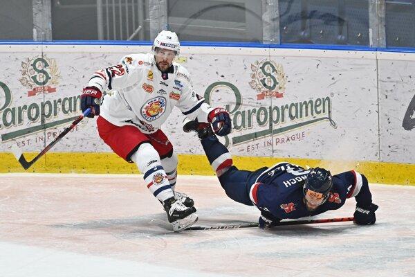 Momentka zo zápasu Zvolena so Slovanom zo základnej časti.