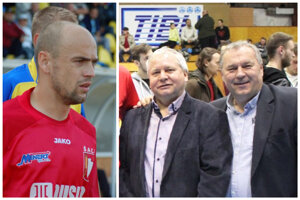 Tibor Rábek (vľavo na pravej fotke) s Ladislavom Kokešom dokázali do Hornej Kráľovej priniesť futbalovú osobnosť Štefana Laláka (vľavo).